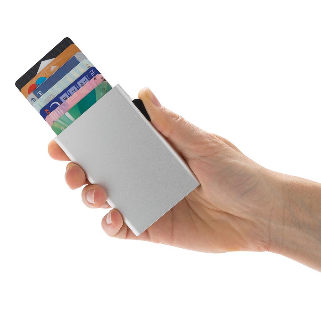 Portecartes En Aluminium Anti RFID Csecure Objet Publicitaire - Porte carte anti rfid